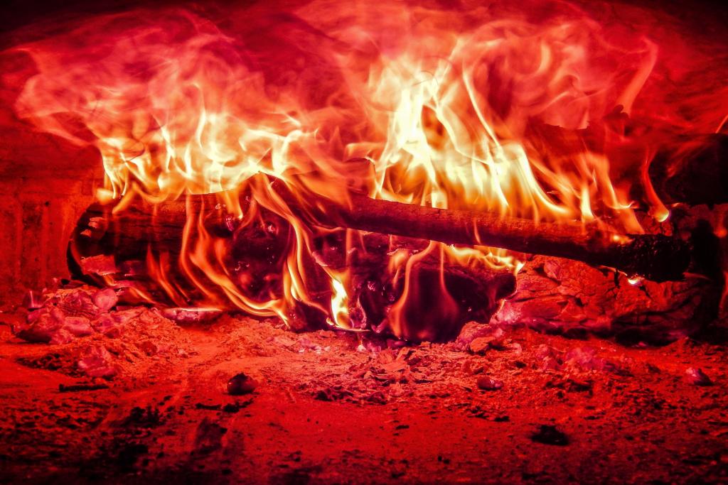 Feuer in Backofen