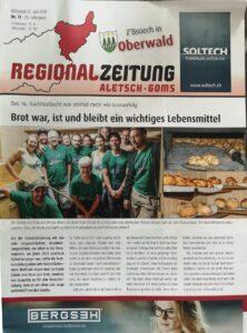 Regionalzeitung Aletsch-Goms - Bachhuesfäscht 2019